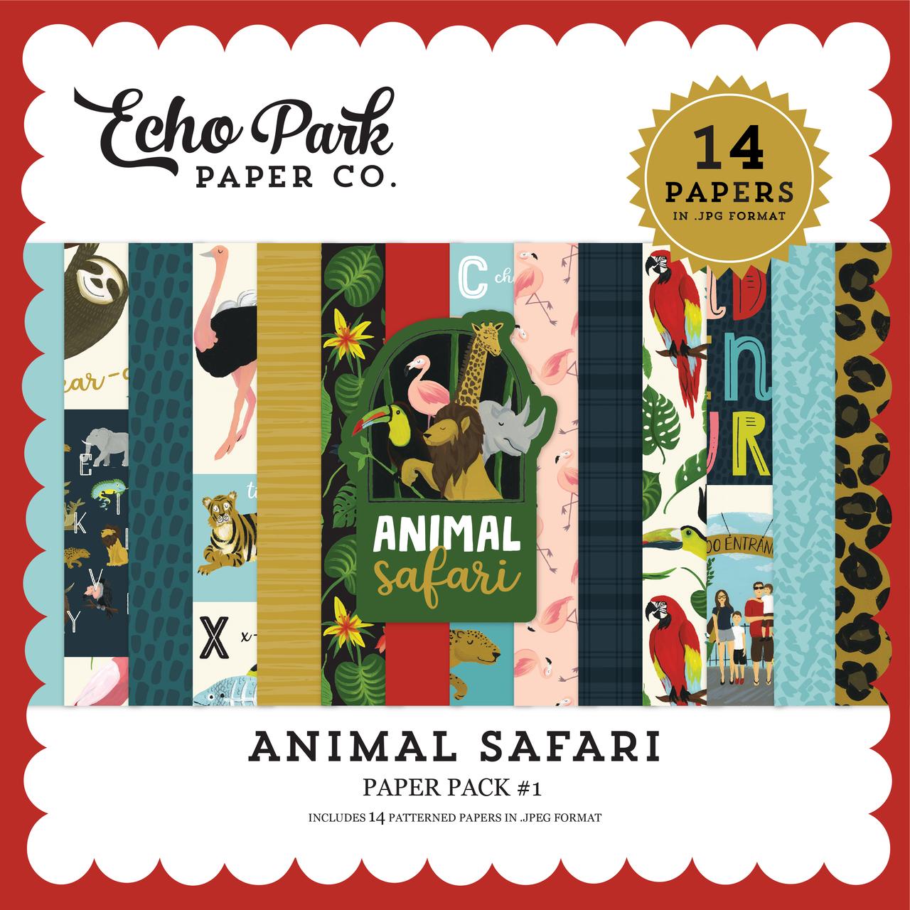 Animal Safari Paper Pack #1