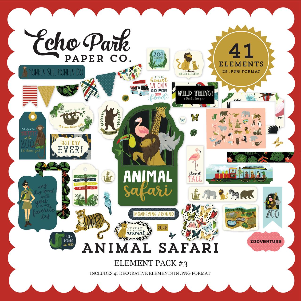 Animal Safari Element Pack #3