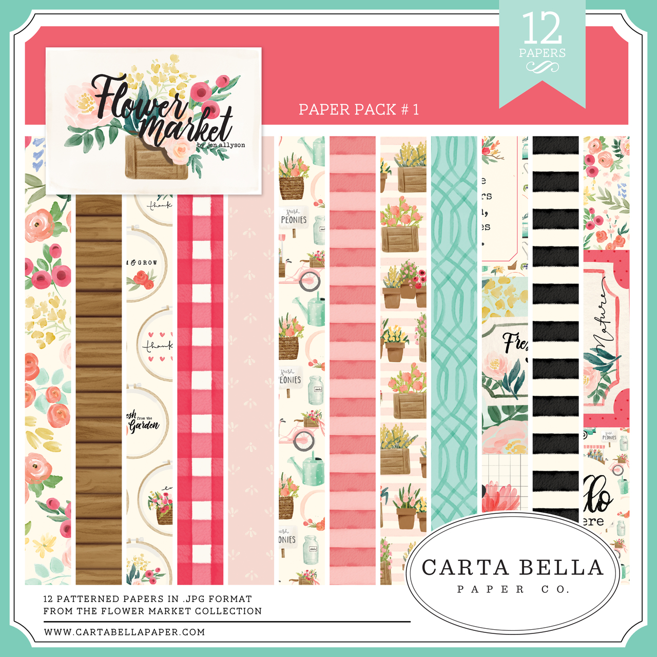 Flower Market Paper Pack #1