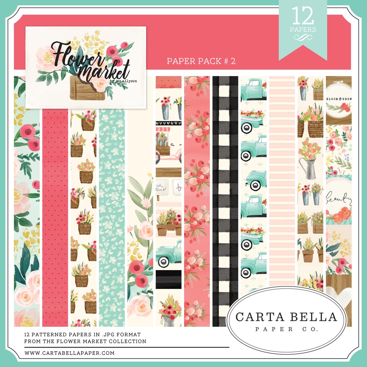 Flower Market Paper Pack #2