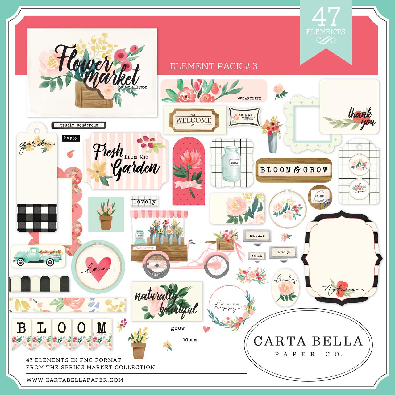 Flower Market Element Pack #3