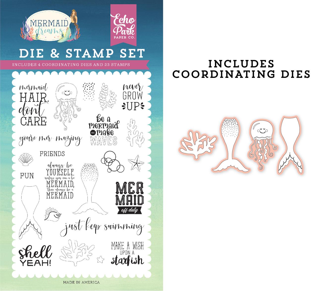 Be A Mermaid Die & Stamp Set