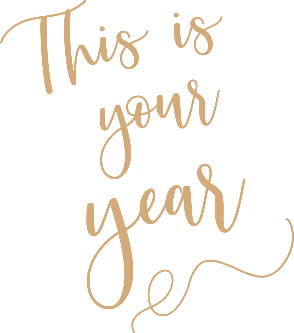 This Is Your Year SVG Cut File