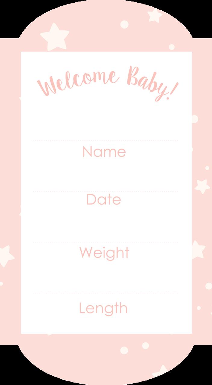 Baby Measurements Print & Cut File