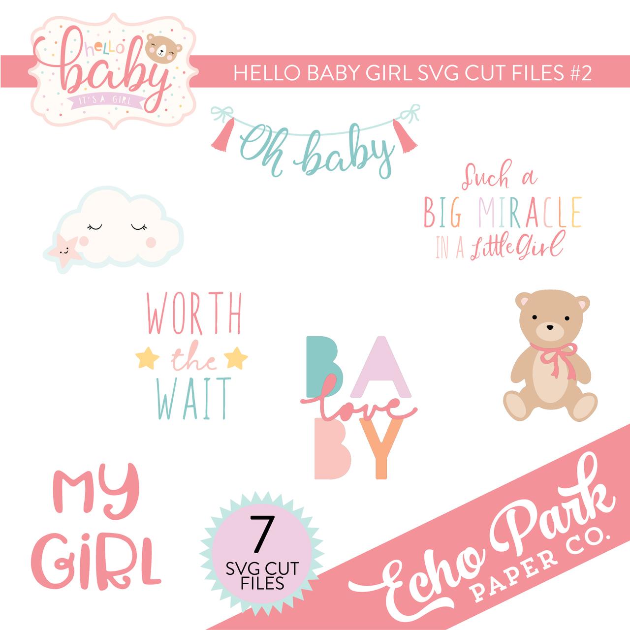 Hello Baby Girl SVG Cut Files #2