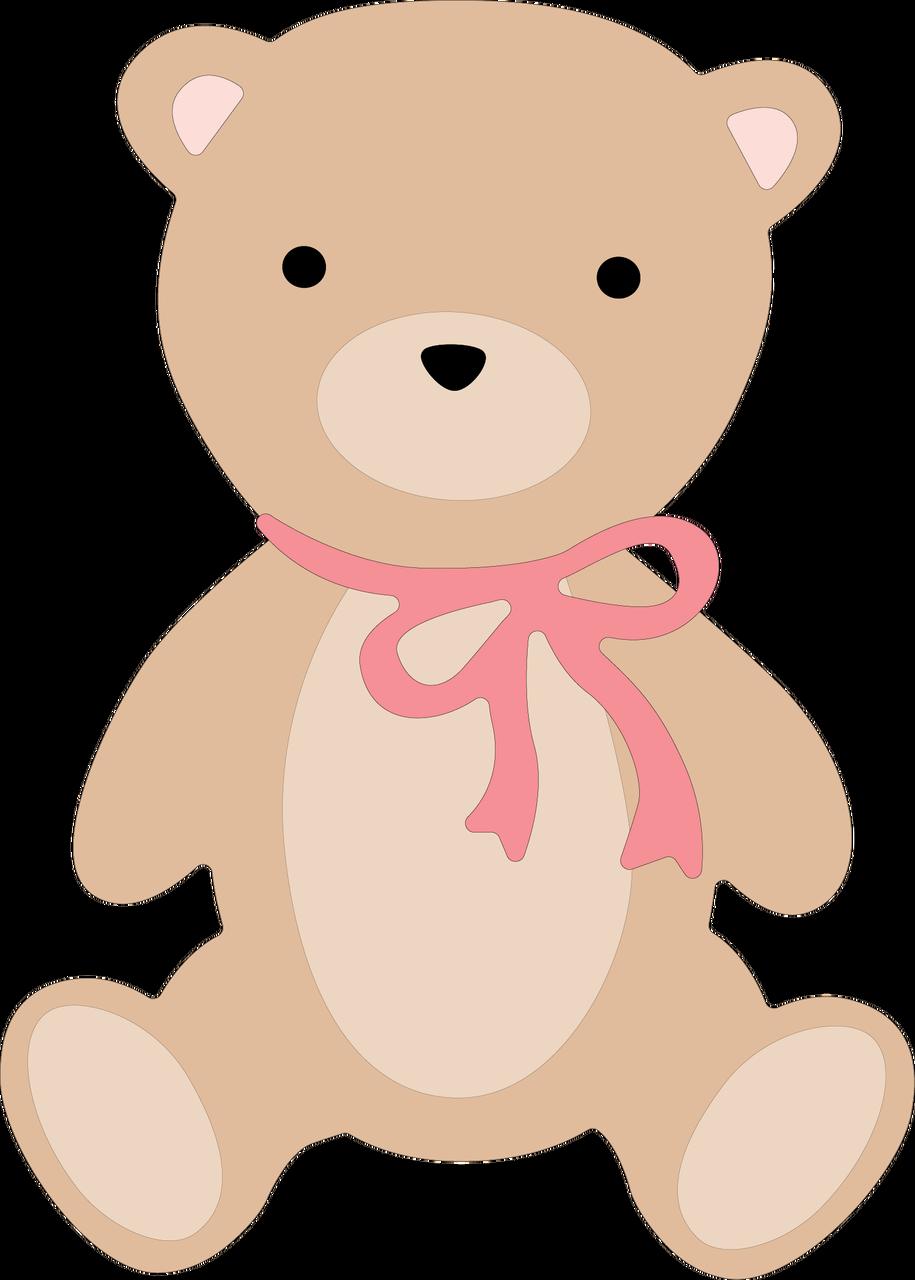 Hello Baby Girl Teddy Bear SVG Cut File