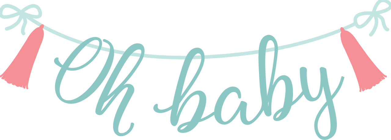 Oh Baby Banner SVG Cut File