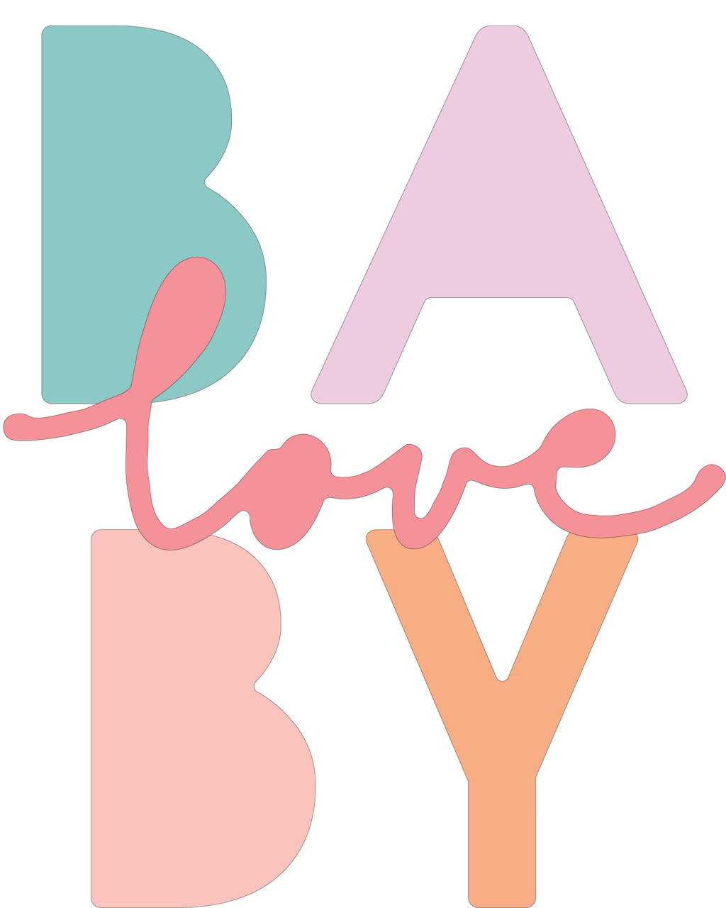 Baby Love SVG Cut File