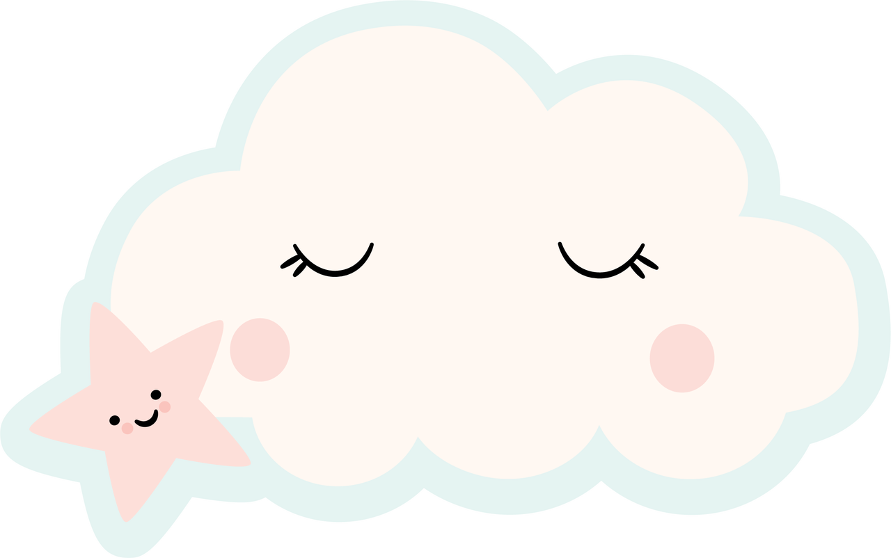 Star and Cloud SVG Cut File