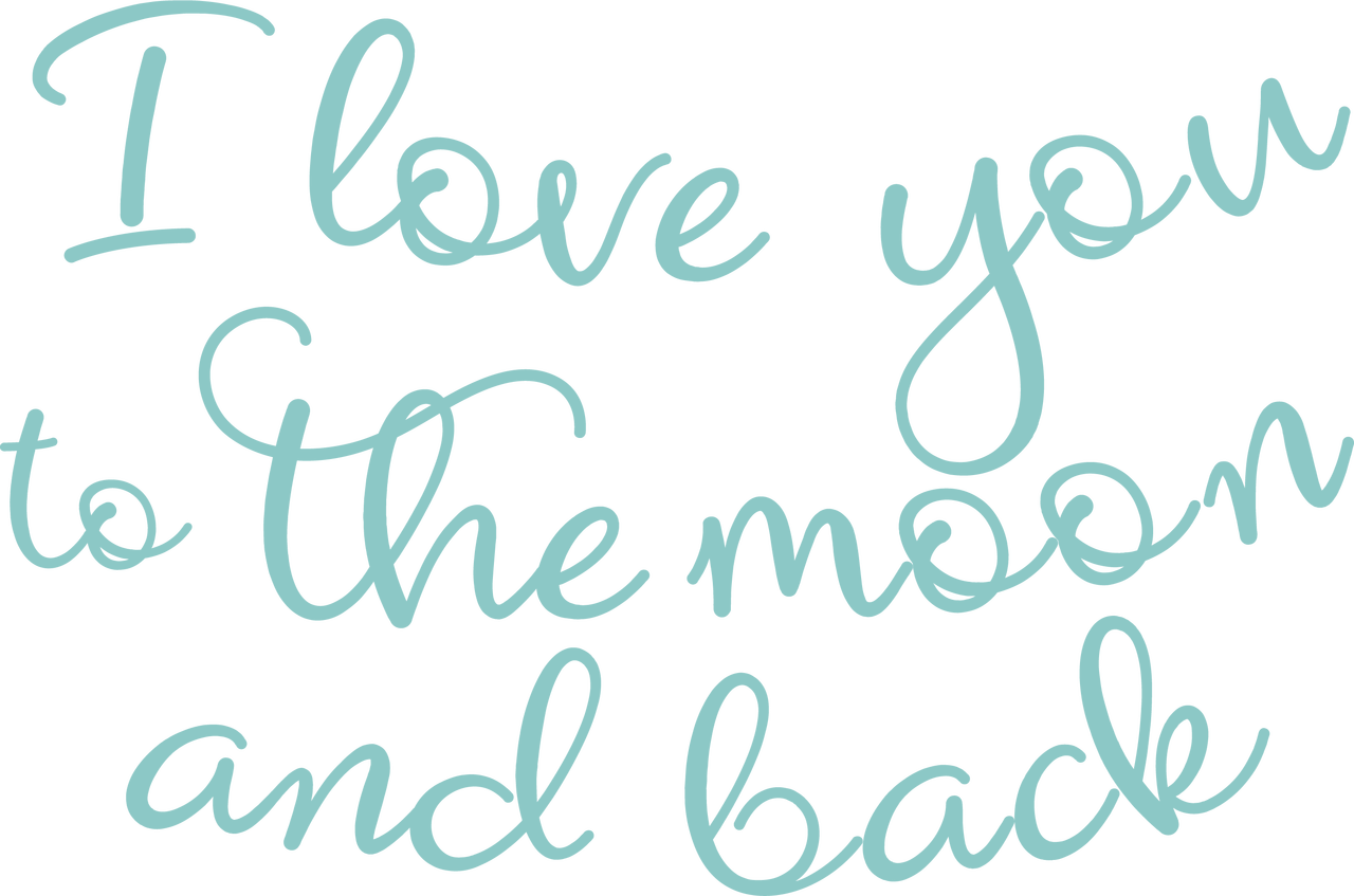I Love You to the Moon and Back #2 SVG Cut File