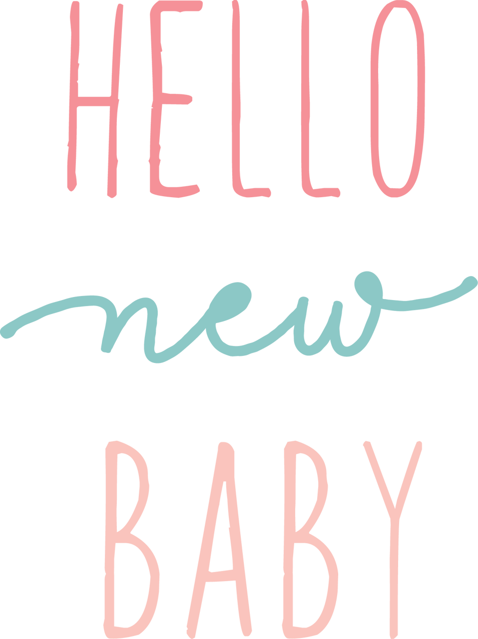 Hello New Baby SVG Cut File