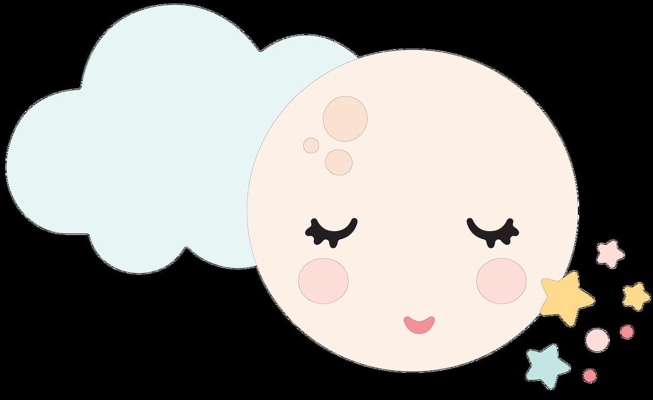 Cloud, Moon, and Stars SVG Cut File
