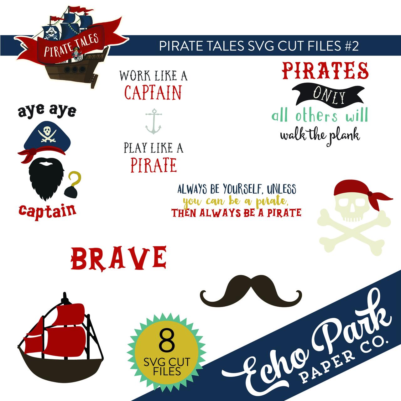 Pirate Tales SVG Cut Files #2