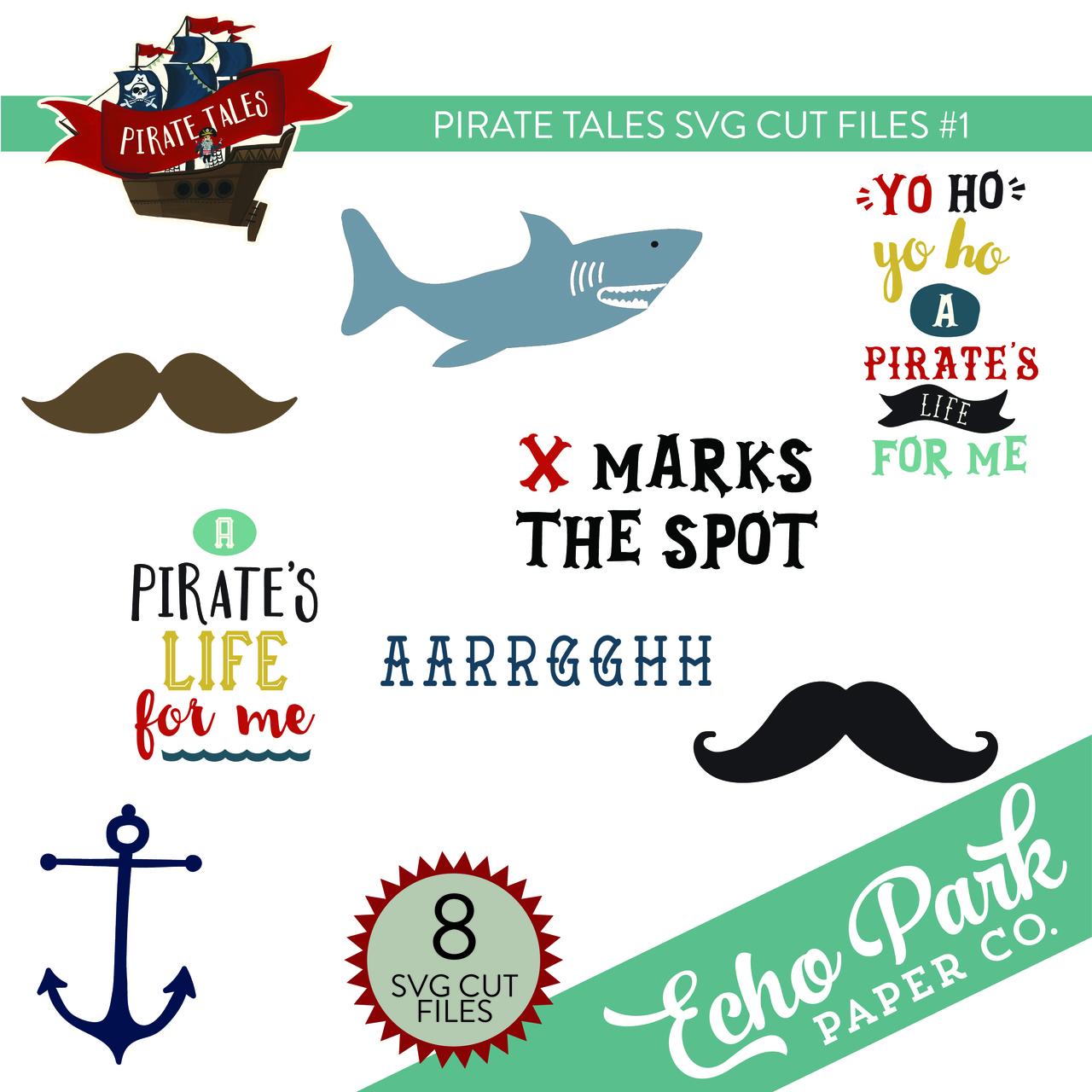 Pirate Tales SVG Cut Files #1