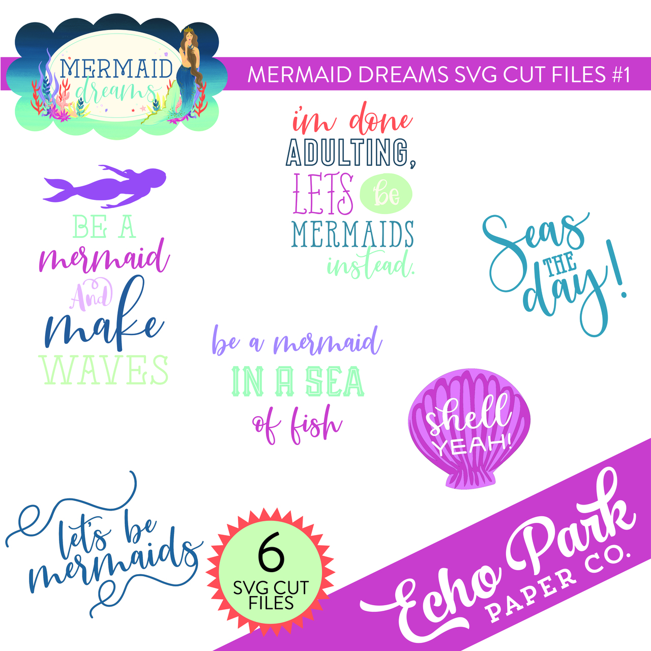 Mermaid Dreams SVG Cut Files #1