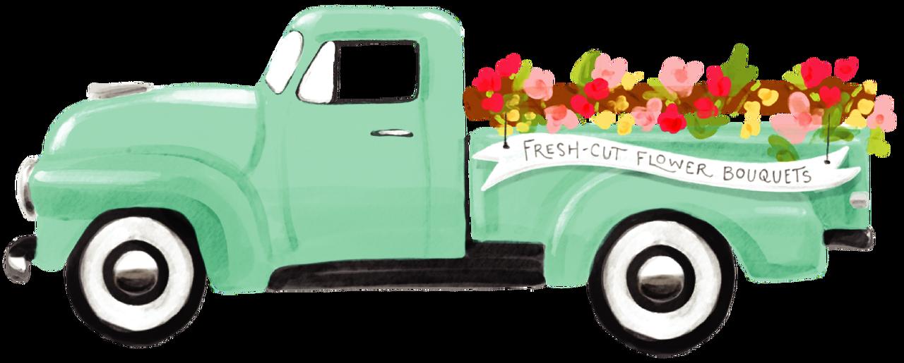 Flower Truck Print & Cut File