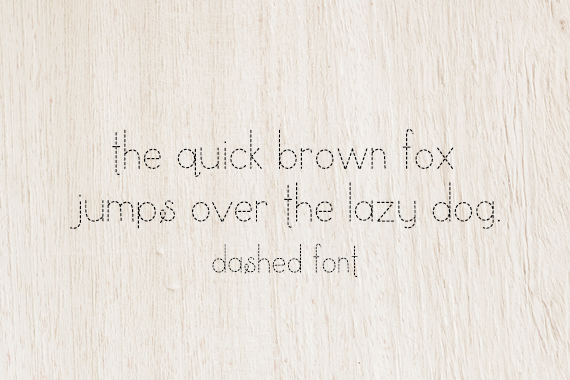 CG Dashed Font