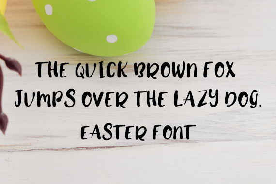 CG Easter Font