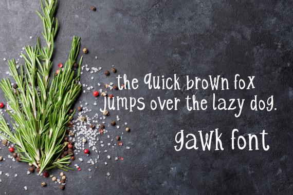 CG Gawk Font