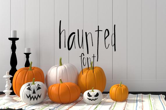 CG Haunted Font