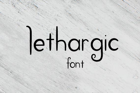 CG Lethargic Font