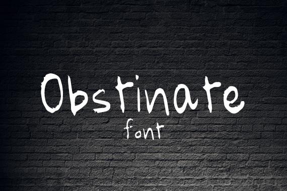 CG Obstinate Font