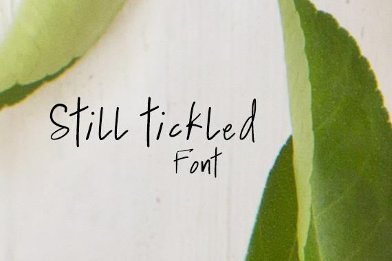 CG Still Tickled Font