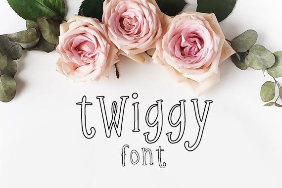 CG Twiggy Font