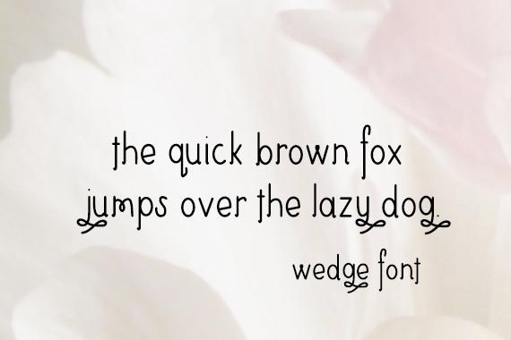 CG Wedge Font