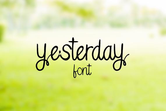 CG Yesterday Font