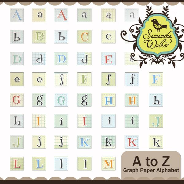 A to Z Grid Alphabet
