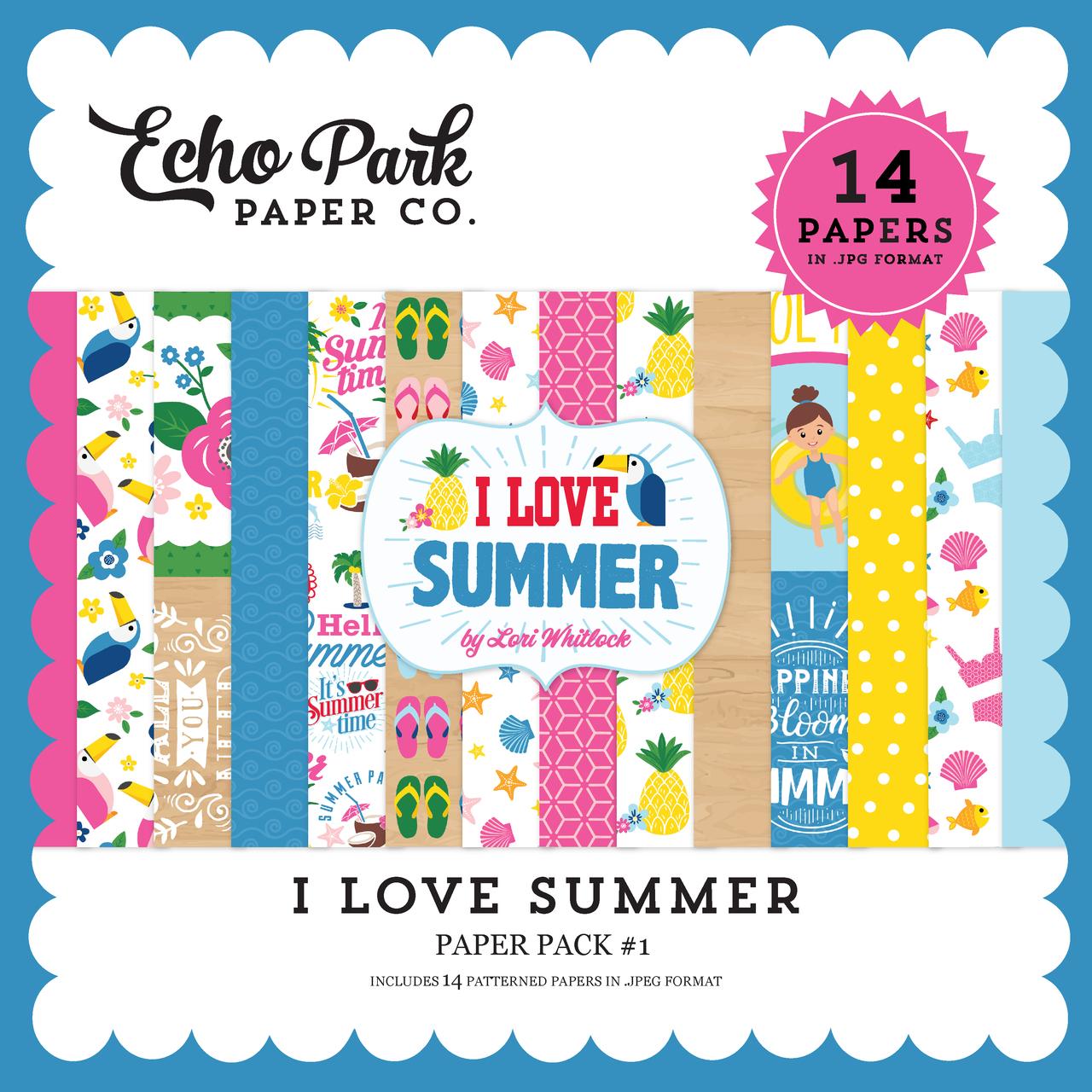 I Love Summer Paper Pack #1