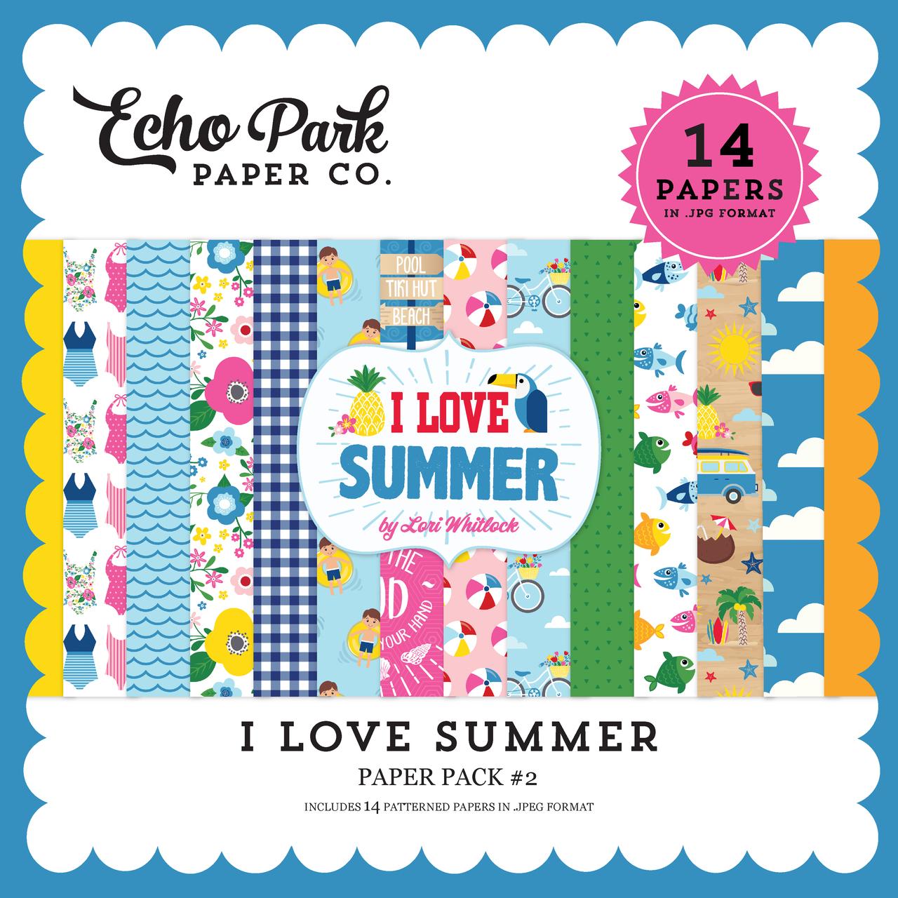 I Love Summer Paper Pack #2