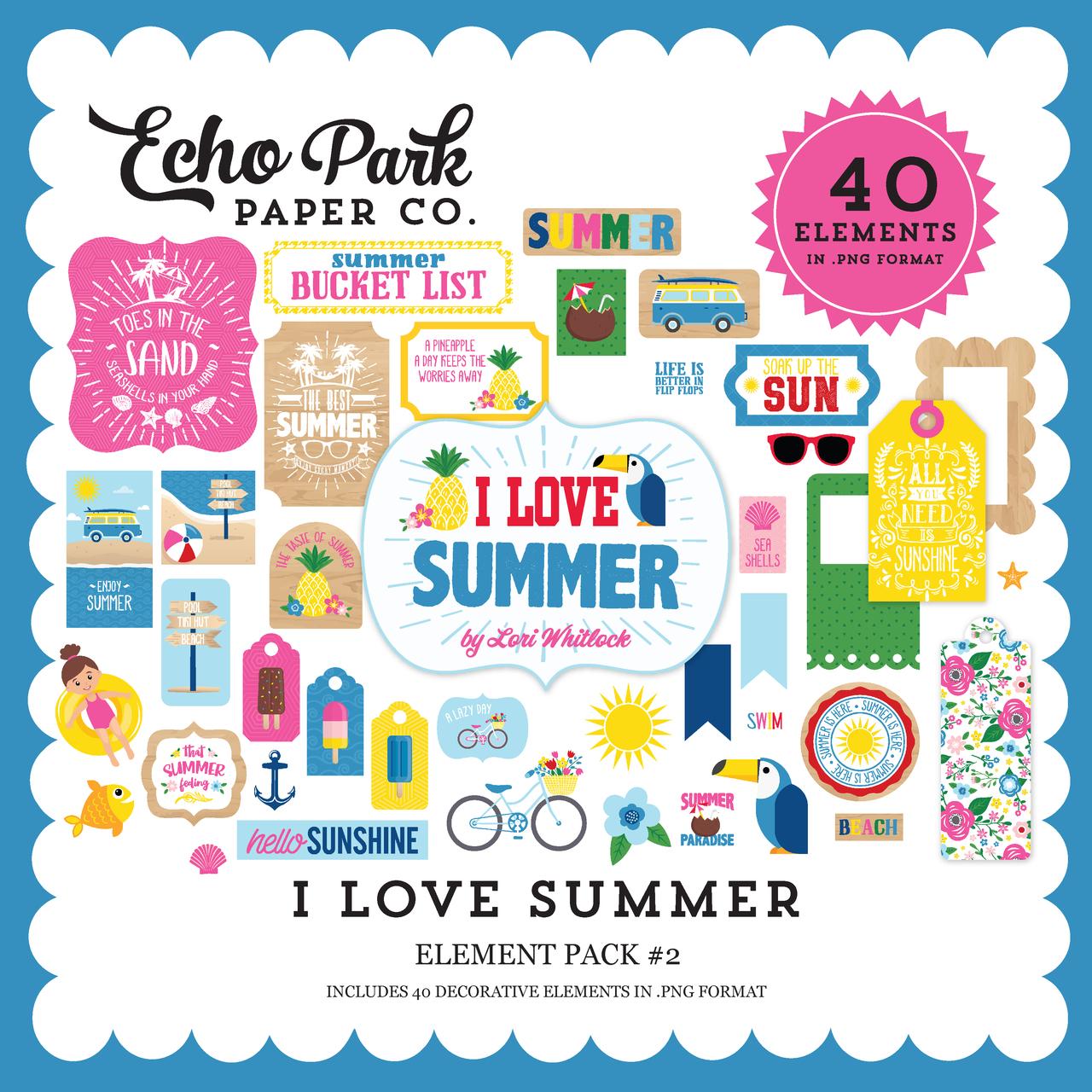 I Love Summer Element Pack #2