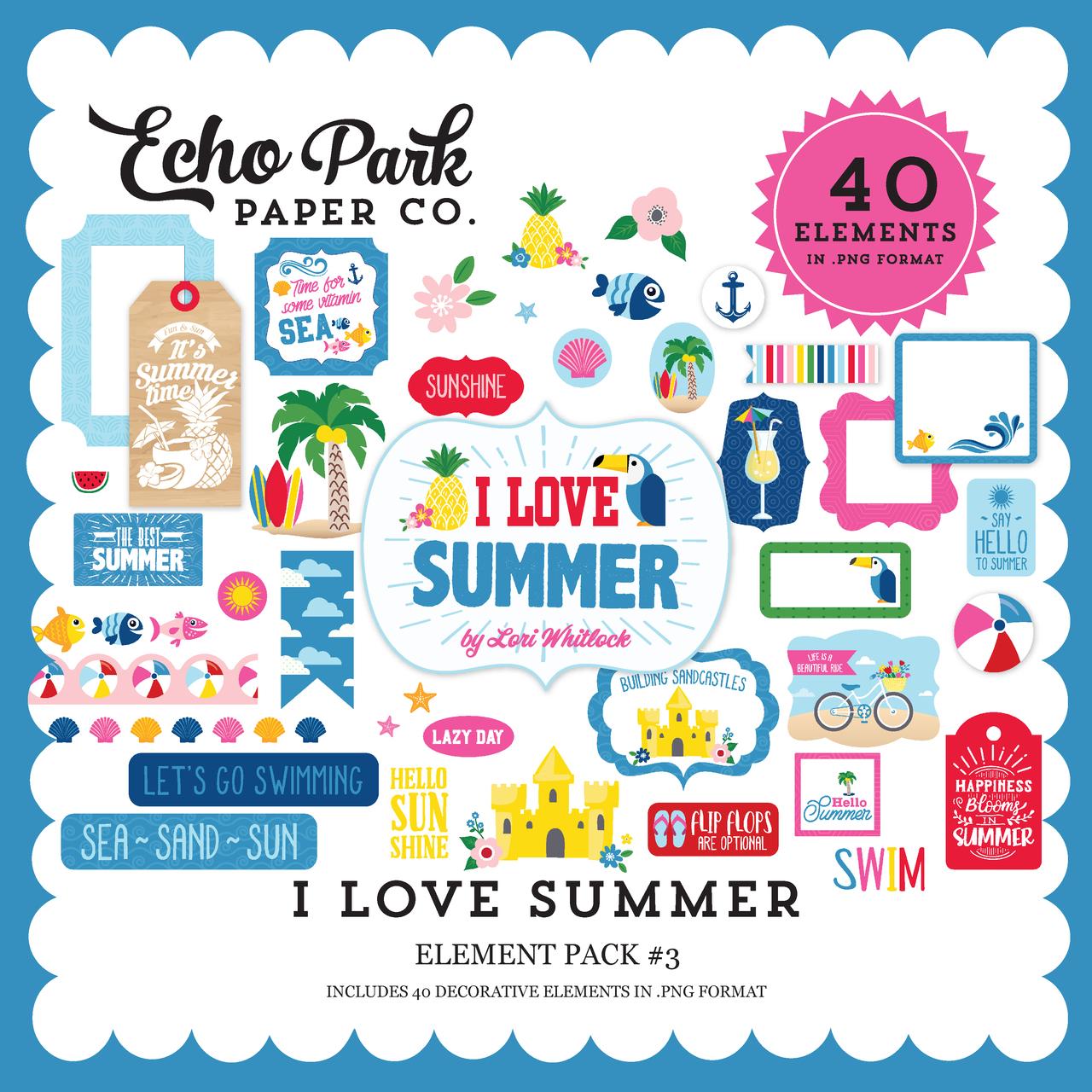 I Love Summer Element Pack #3