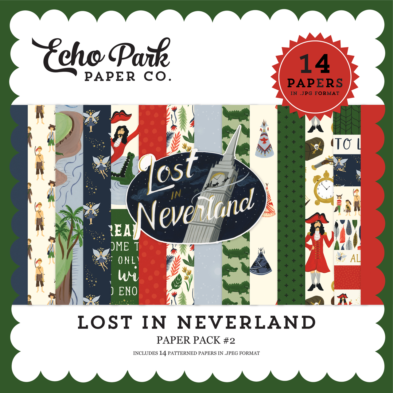 Lost In Neverland Paper Pack #2
