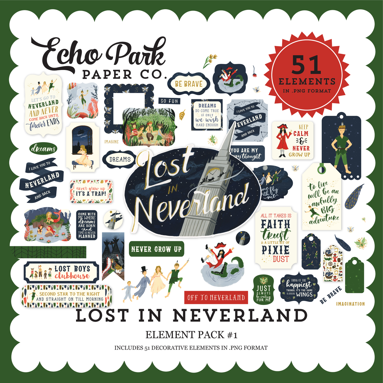 Lost In Neverland Element Pack #1
