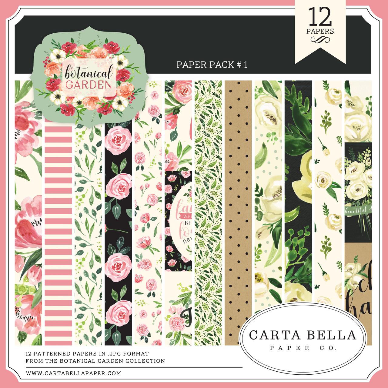 Botanical Garden Paper Pack #1
