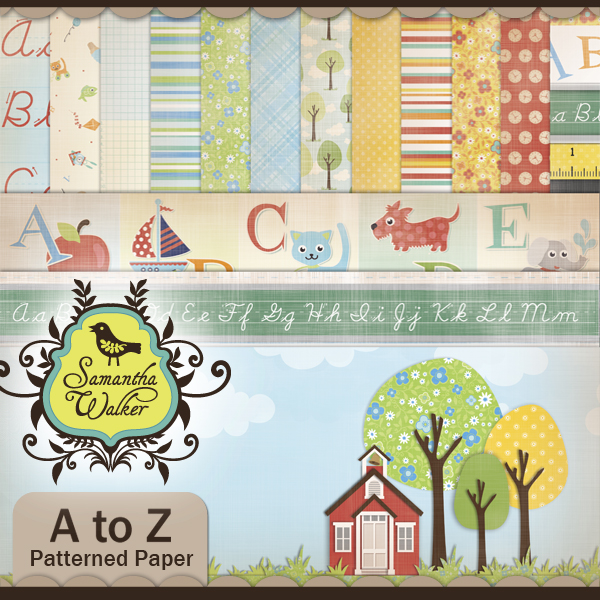A to Z Patterned Paper Pack
