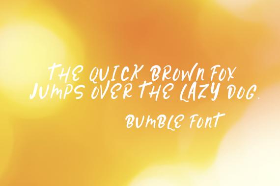CG Bumble Font
