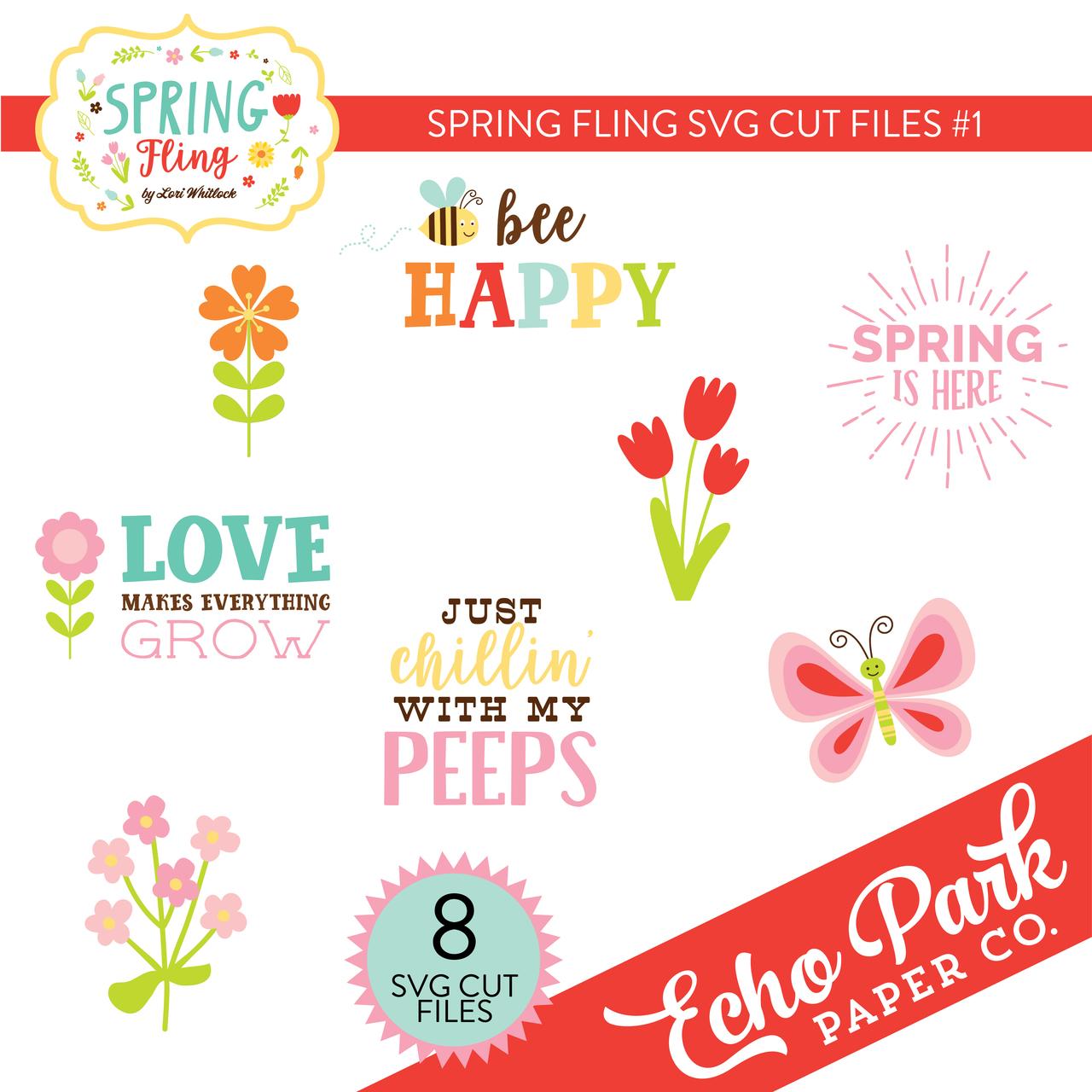 Spring Fling SVG Cut Files #1