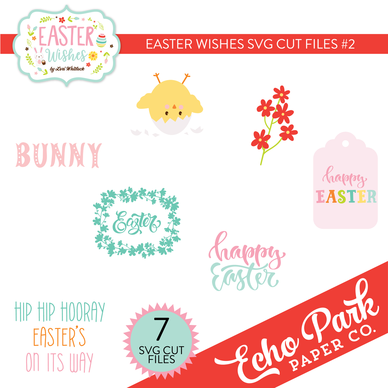 Easter Wishes SVG Cut Files #2