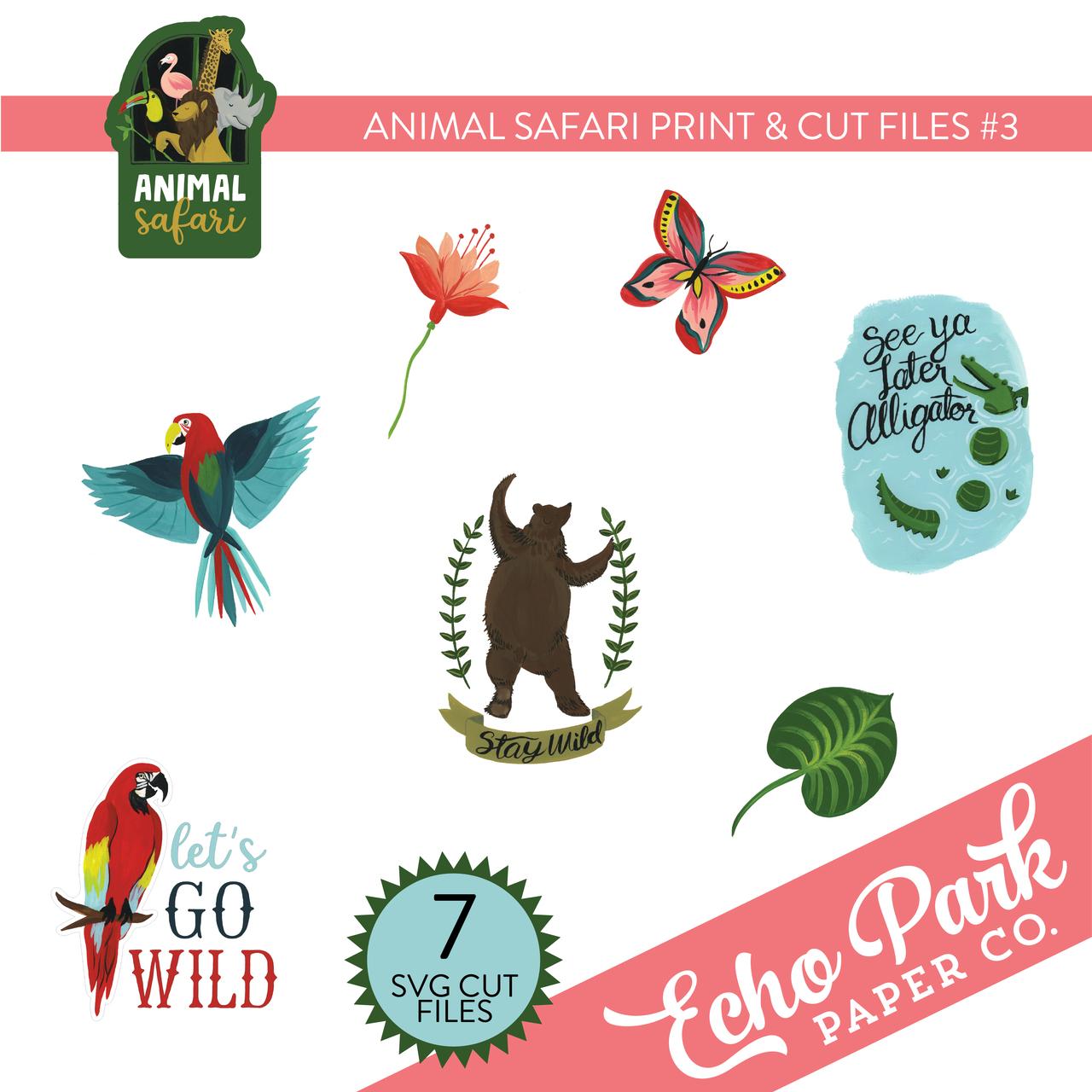 Animal Safari Print & Cut Files #3