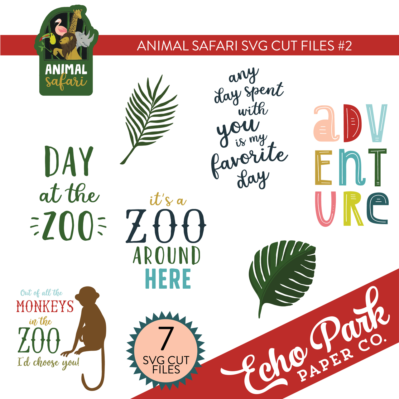 Animal Safari SVG Cut Files #2