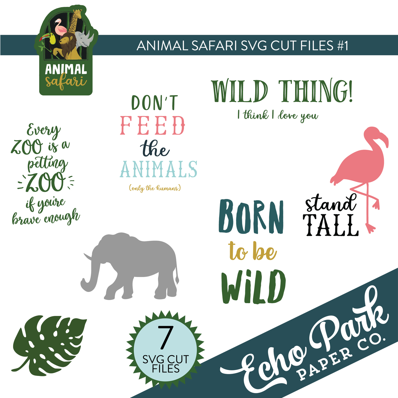 Animal Safari SVG Cut Files #1