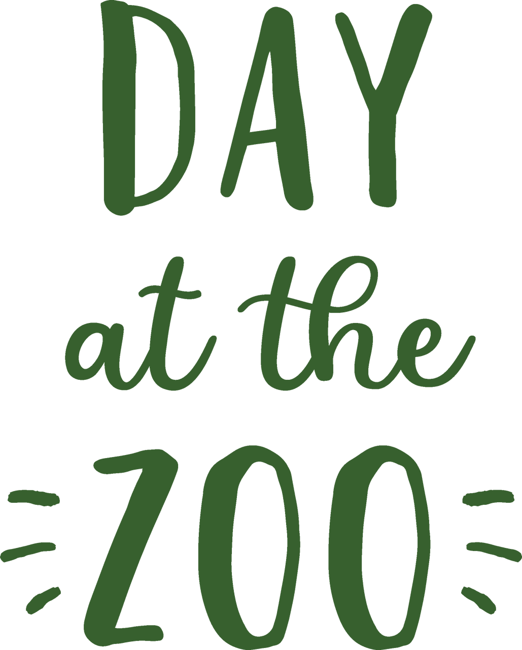 Day At The Zoo SVG Cut File