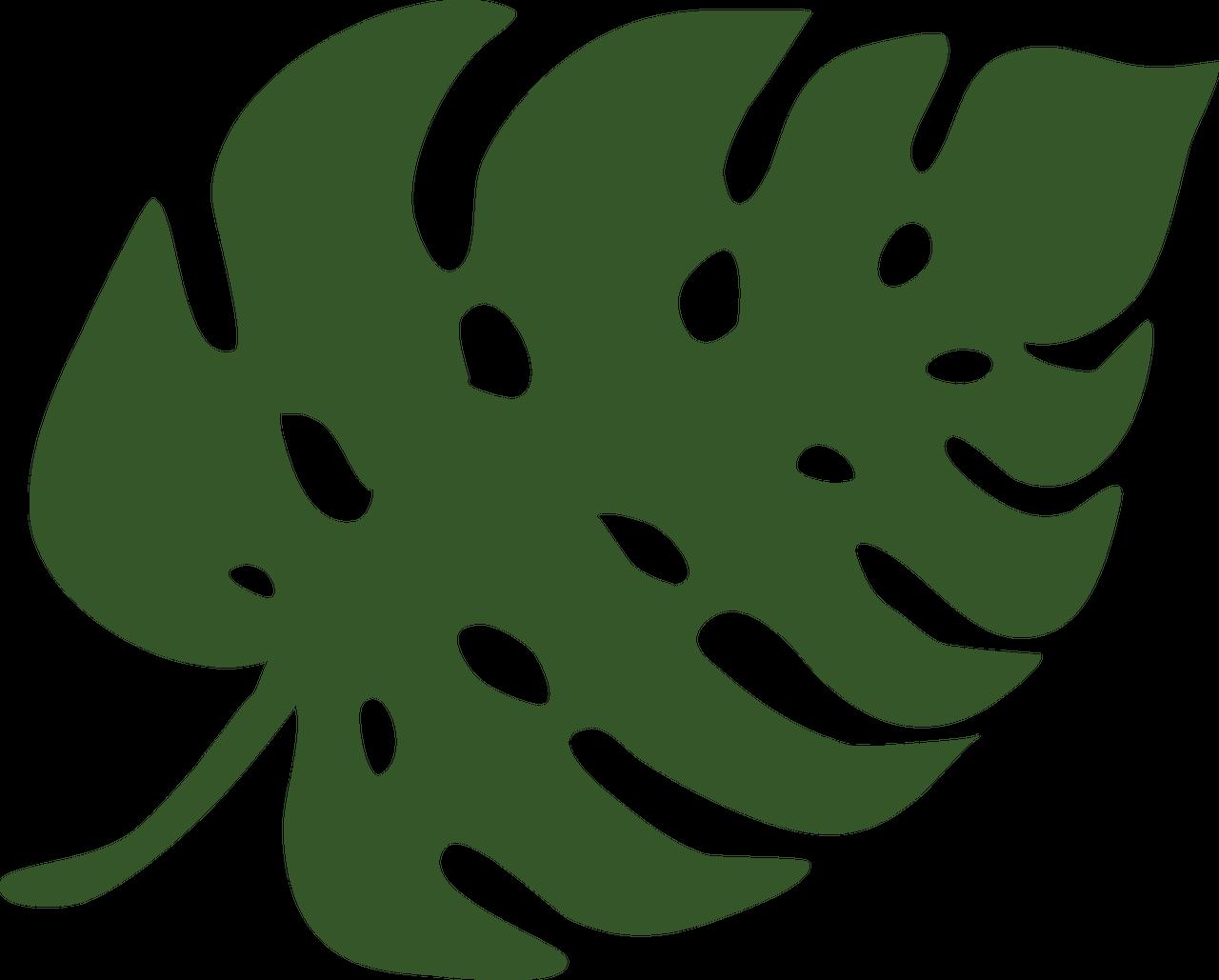 Animal Safari Leaf #2 SVG Cut File