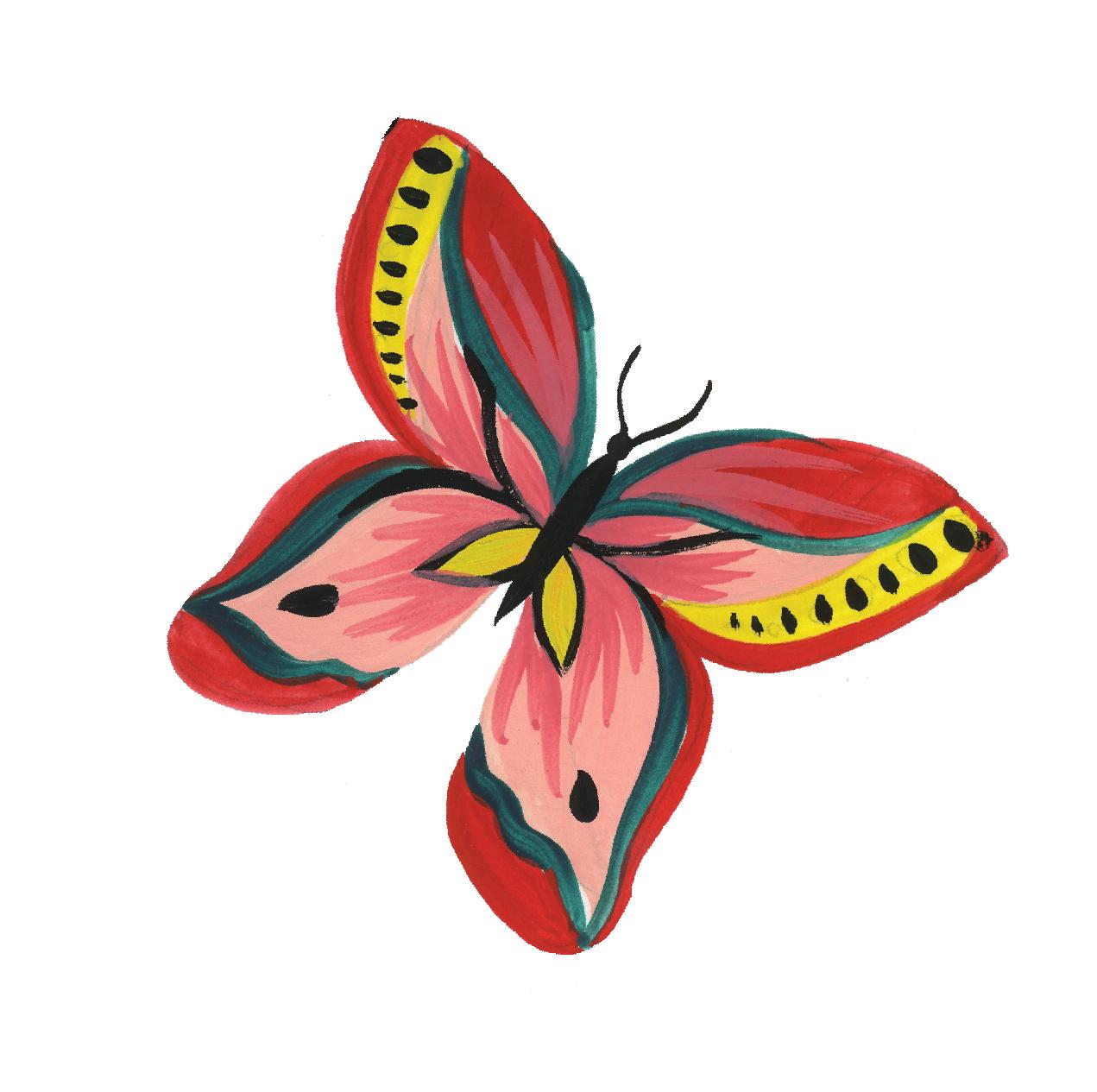 Animal Safari Butterfly Print & Cut File