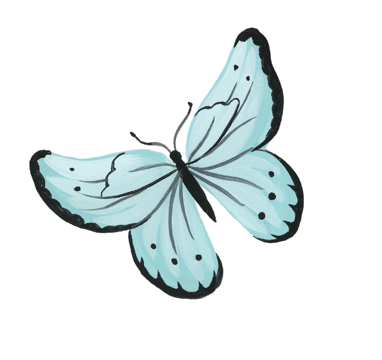 Animal Safari Butterfly #3 Print & Cut File