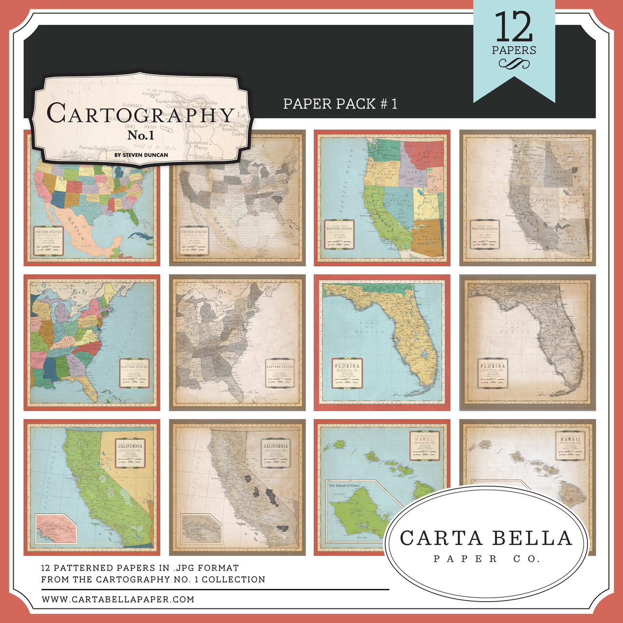Cartography No. 1 Paper Pack #1